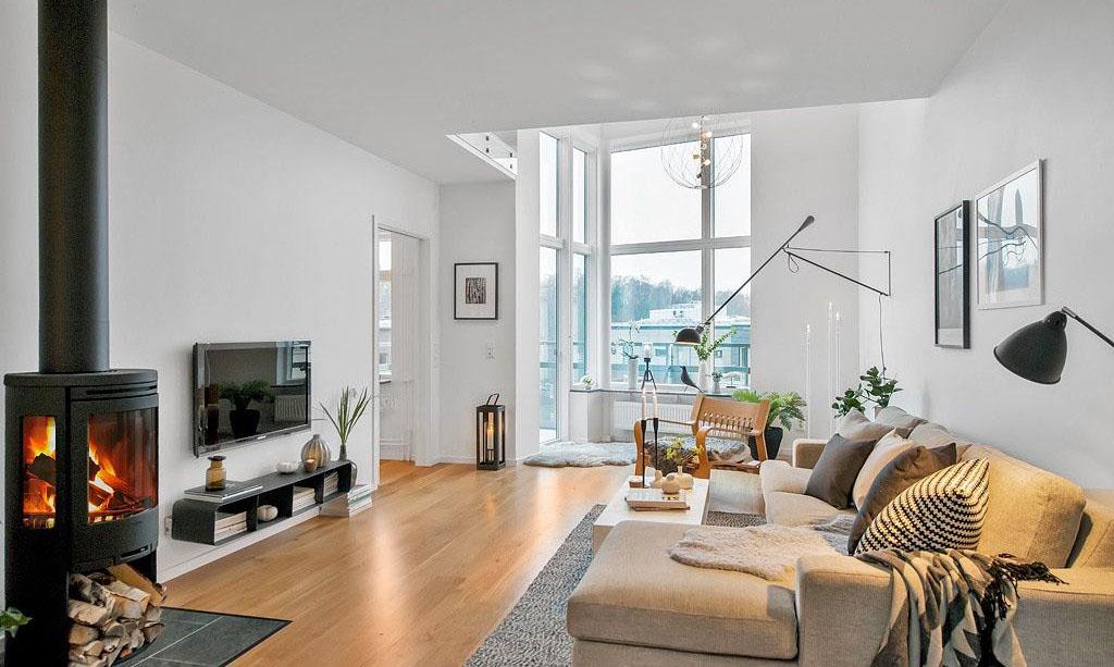 Modern Duplex With Casual Elegant Scandinavian Design