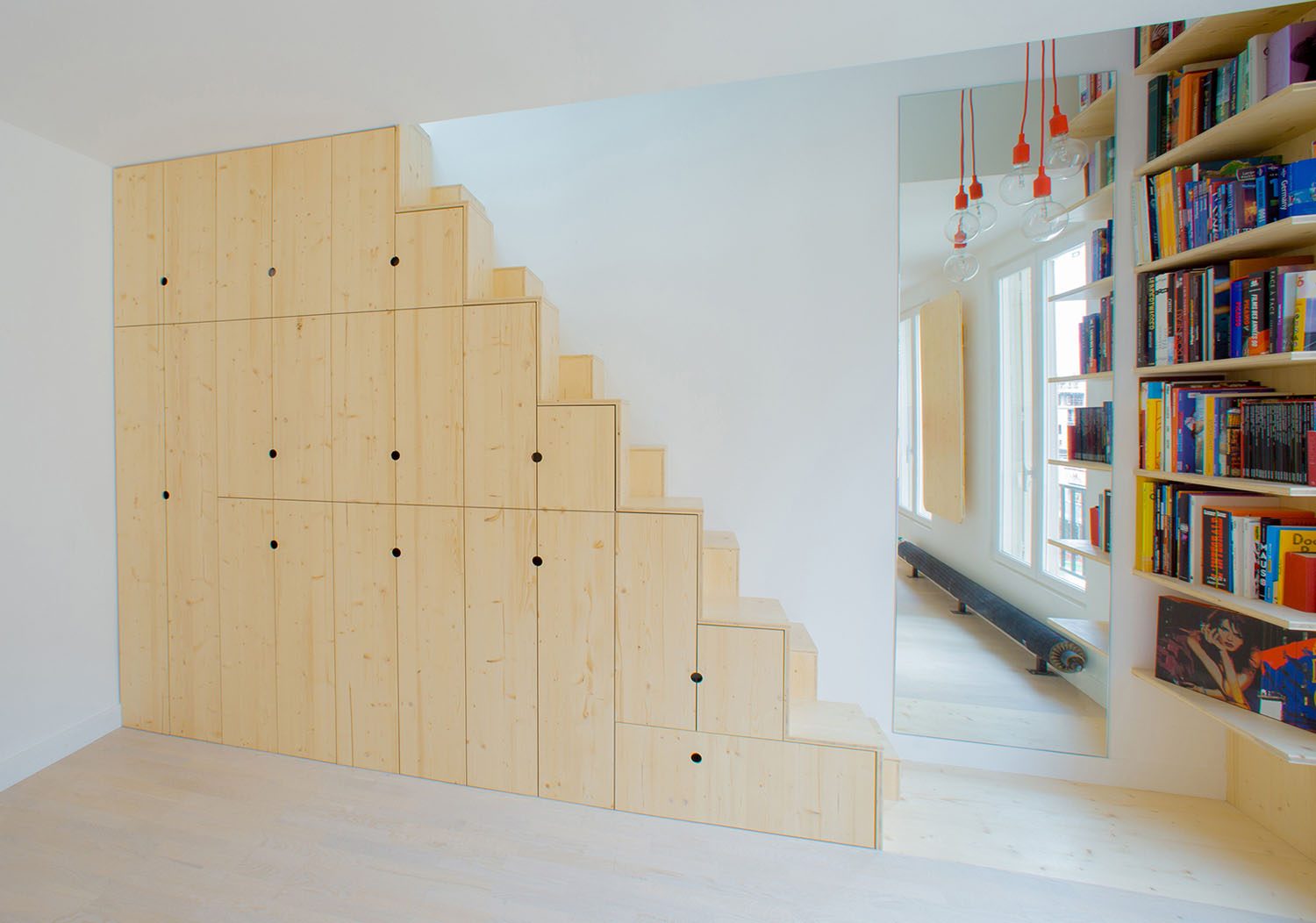 Cupboards and Drawers Under the Stairs