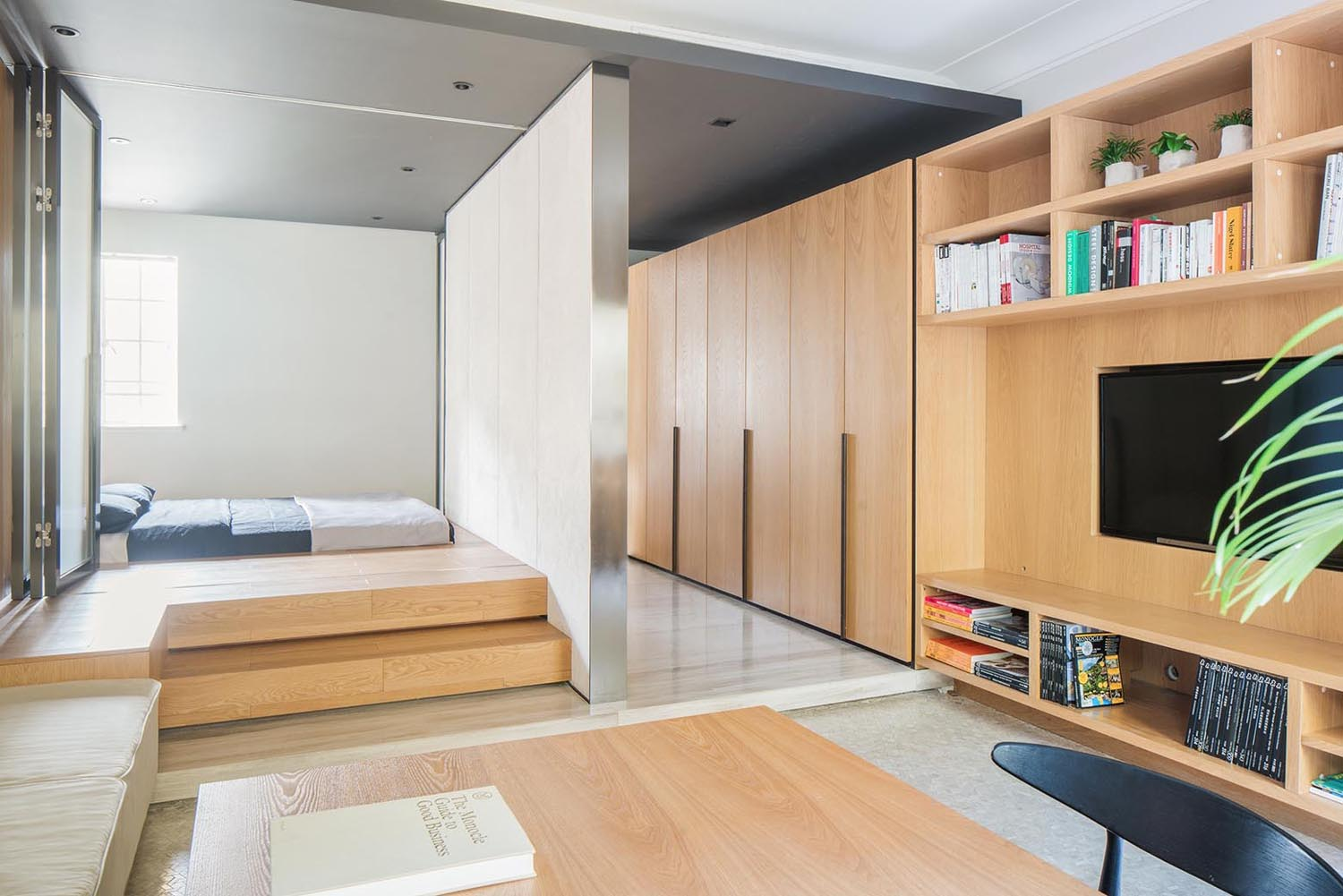 Tiny apartment with functional design that feels open yet Micro apartment interior design