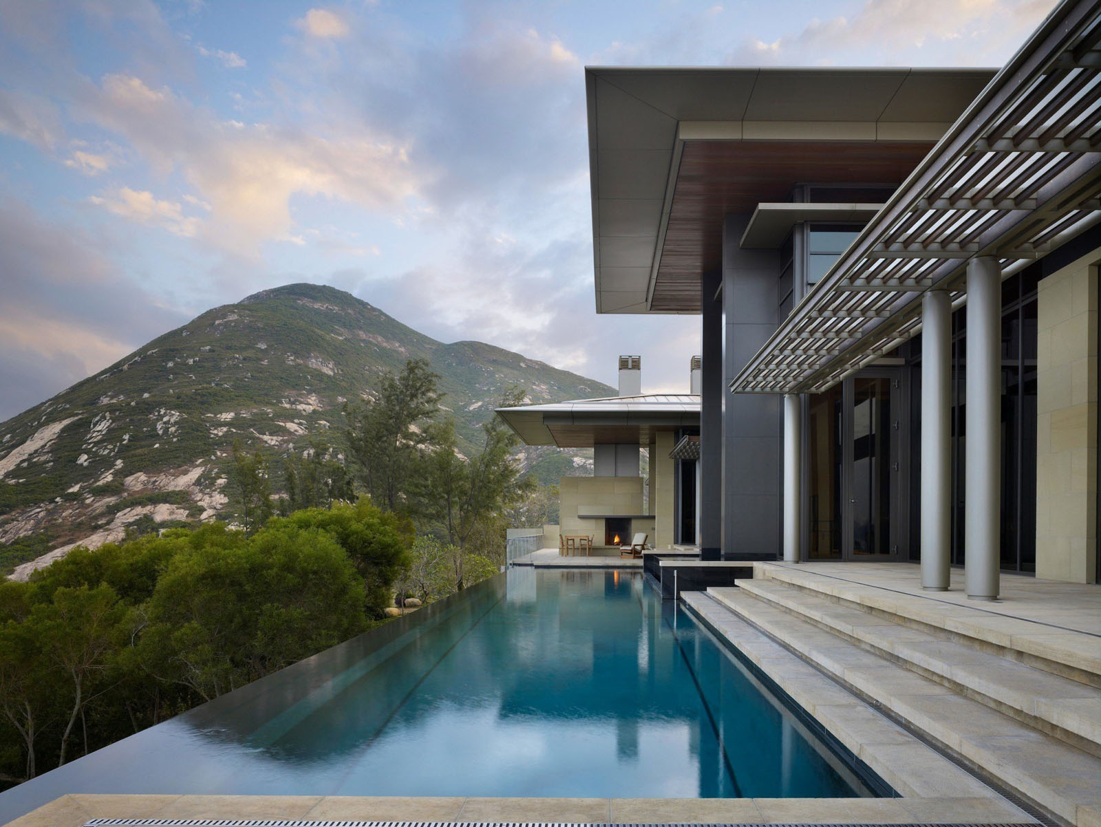 contemporary hong kong villa inspiredtraditional chinese