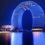 Horseshoe Shaped Glowing Donut Hotel – Sheraton Huzhou Hot Spring Resort