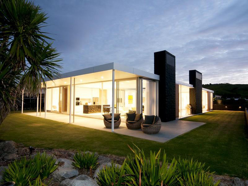 Single Level Beach House In New Zealand Idesignarch