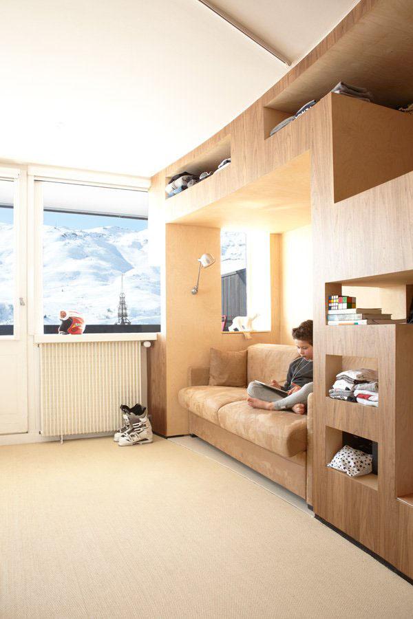 Efficient modern ski resort apartment idesignarch - Small apartment interior design ...