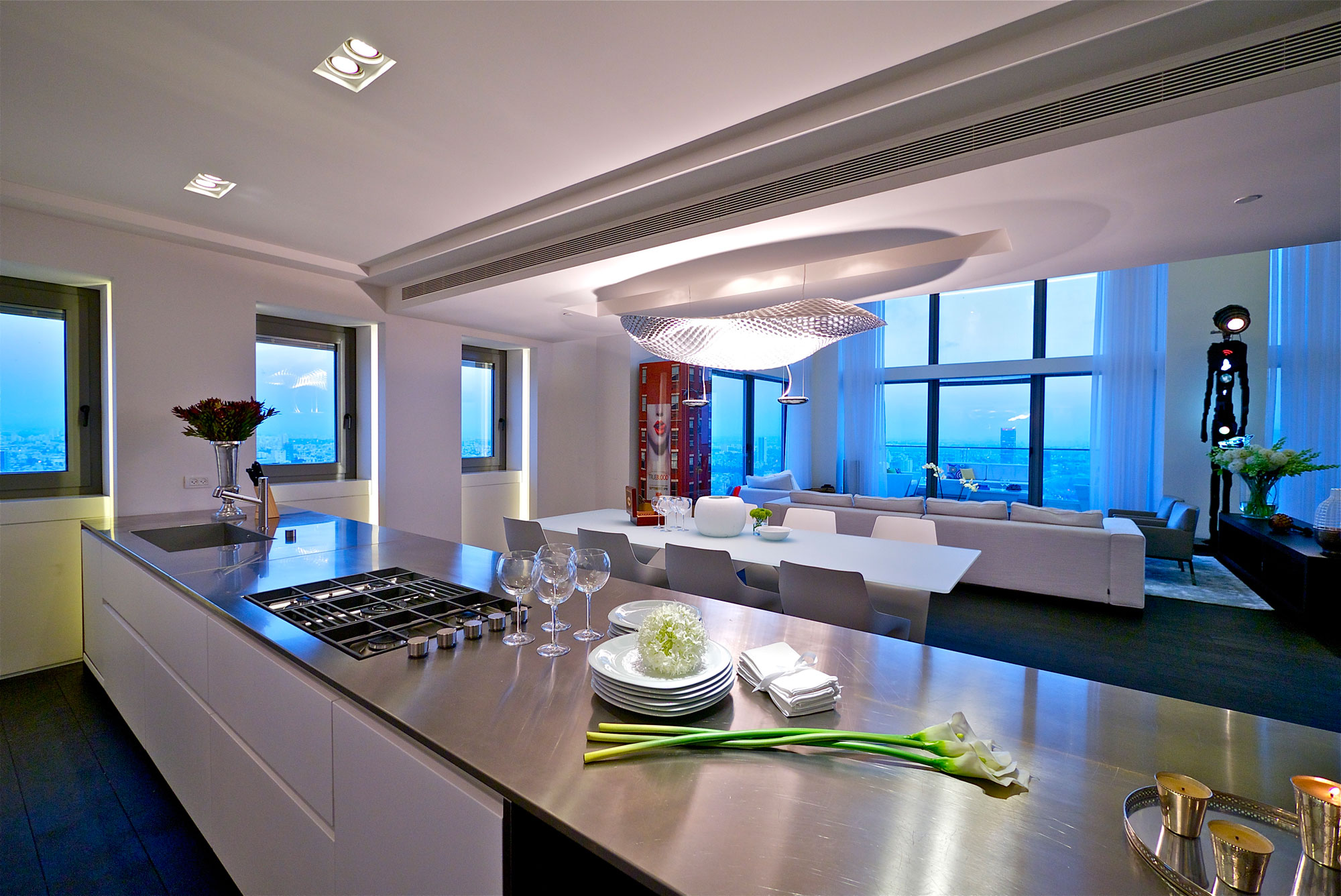 interior kitchen the home tel aviv design | Stunning Penthouse With Private Rooftop Swimming Pool ...