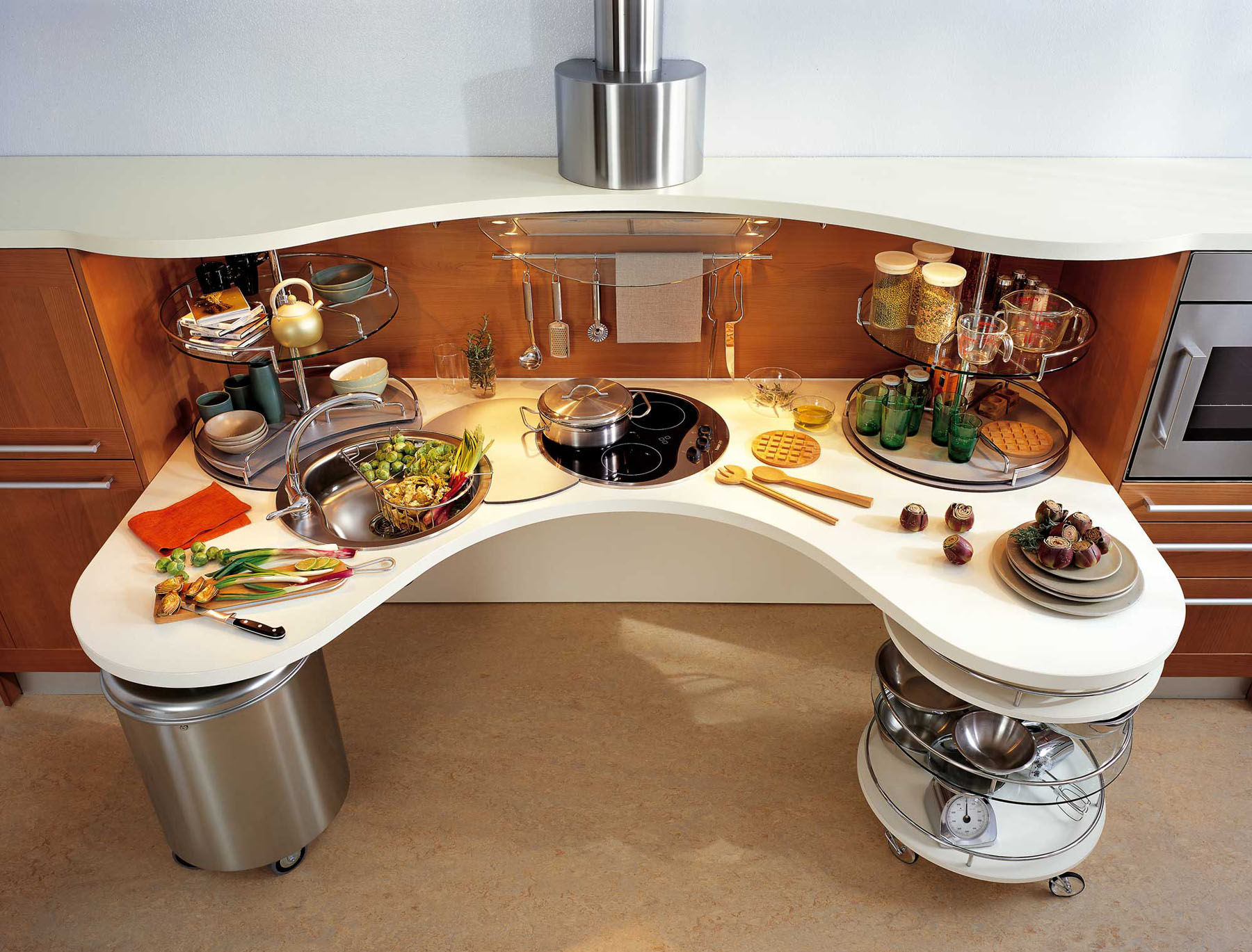 Ergonomic Italian Kitchen Design Suitable For Wheelchair Users Smart Modern