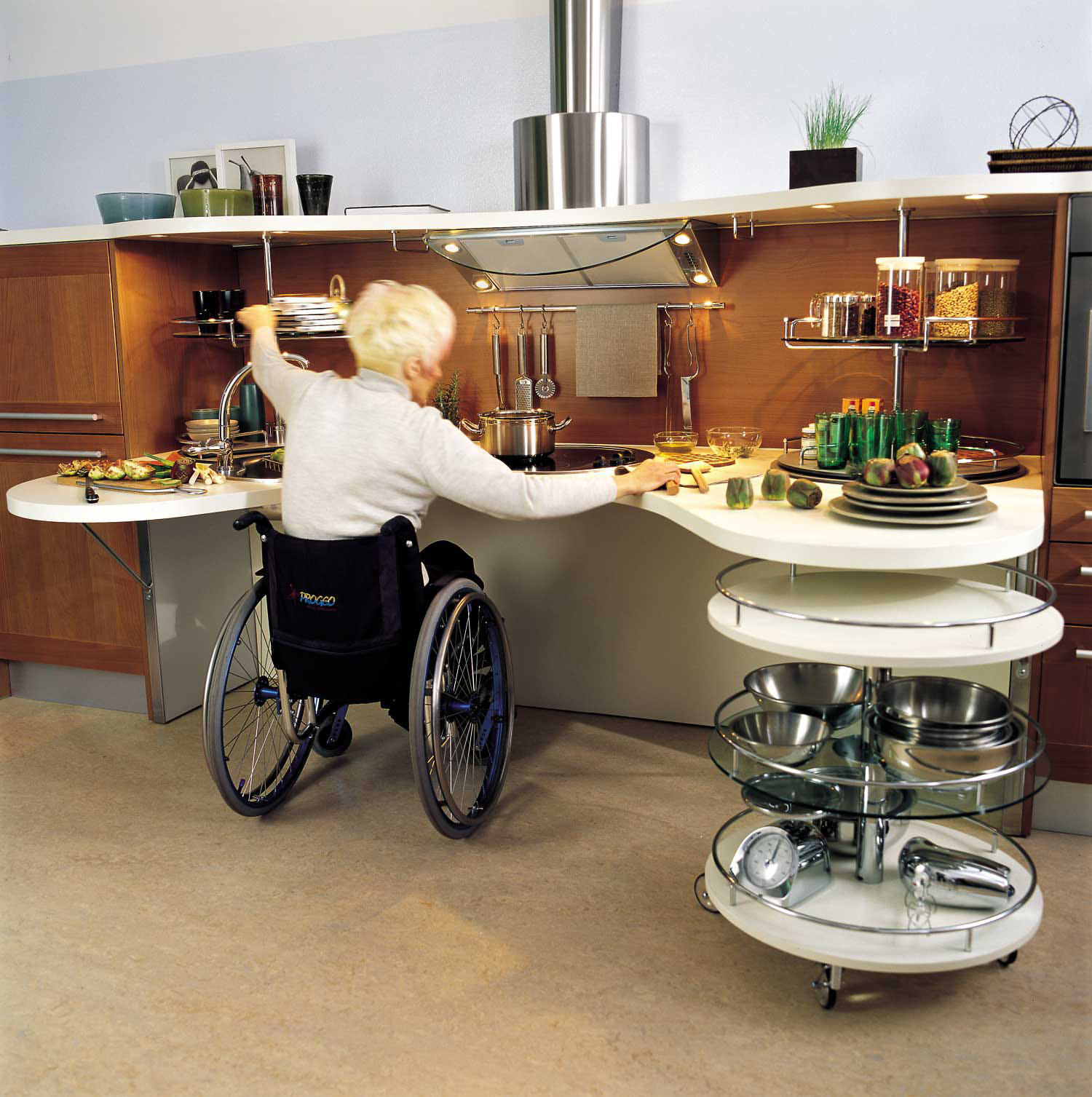 Captivating Ergonomic Italian Kitchen Design Suitable For Wheelchair Users