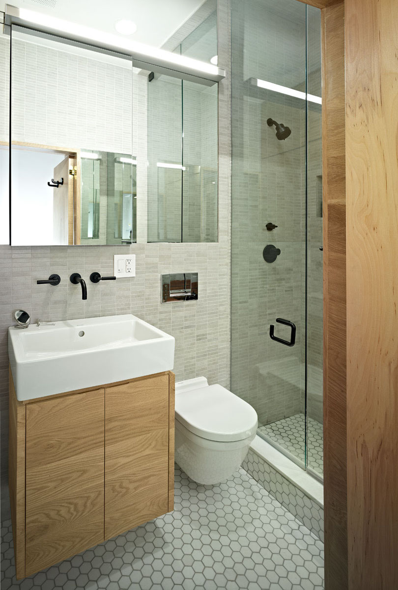 Small studio apartment design in new york idesignarch - How to layout a bathroom remodel ...
