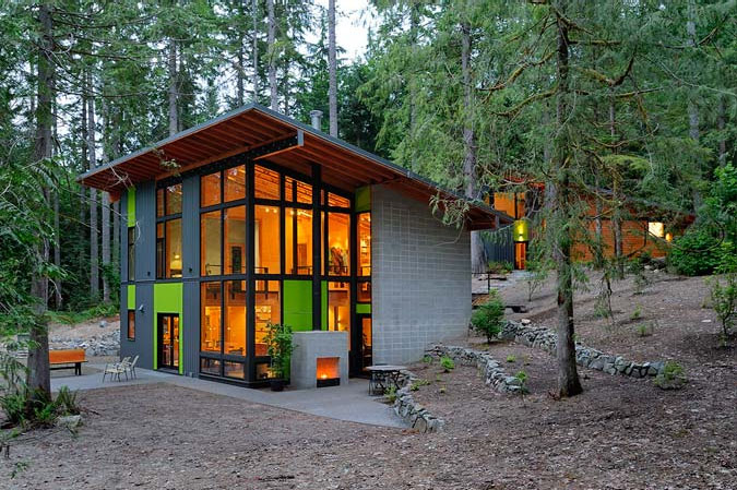 Pleasing Sustainable Home In The Forest Idesignarch Interior Design Inspirational Interior Design Netriciaus
