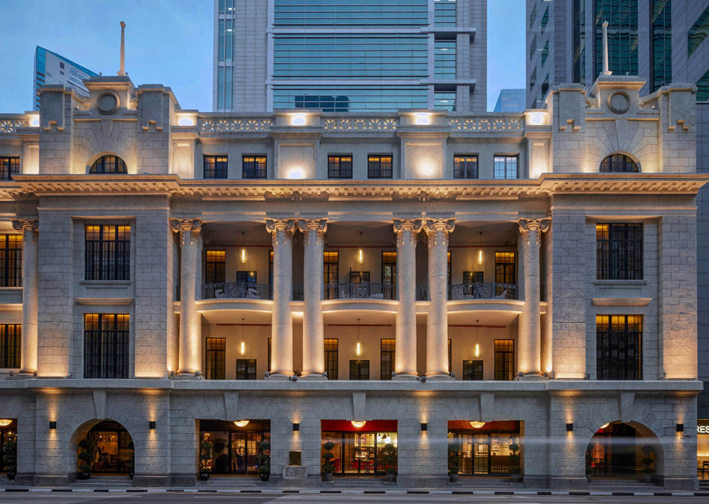 Classic french elegance meets singapore chic at sofitel so for Modern classic building design