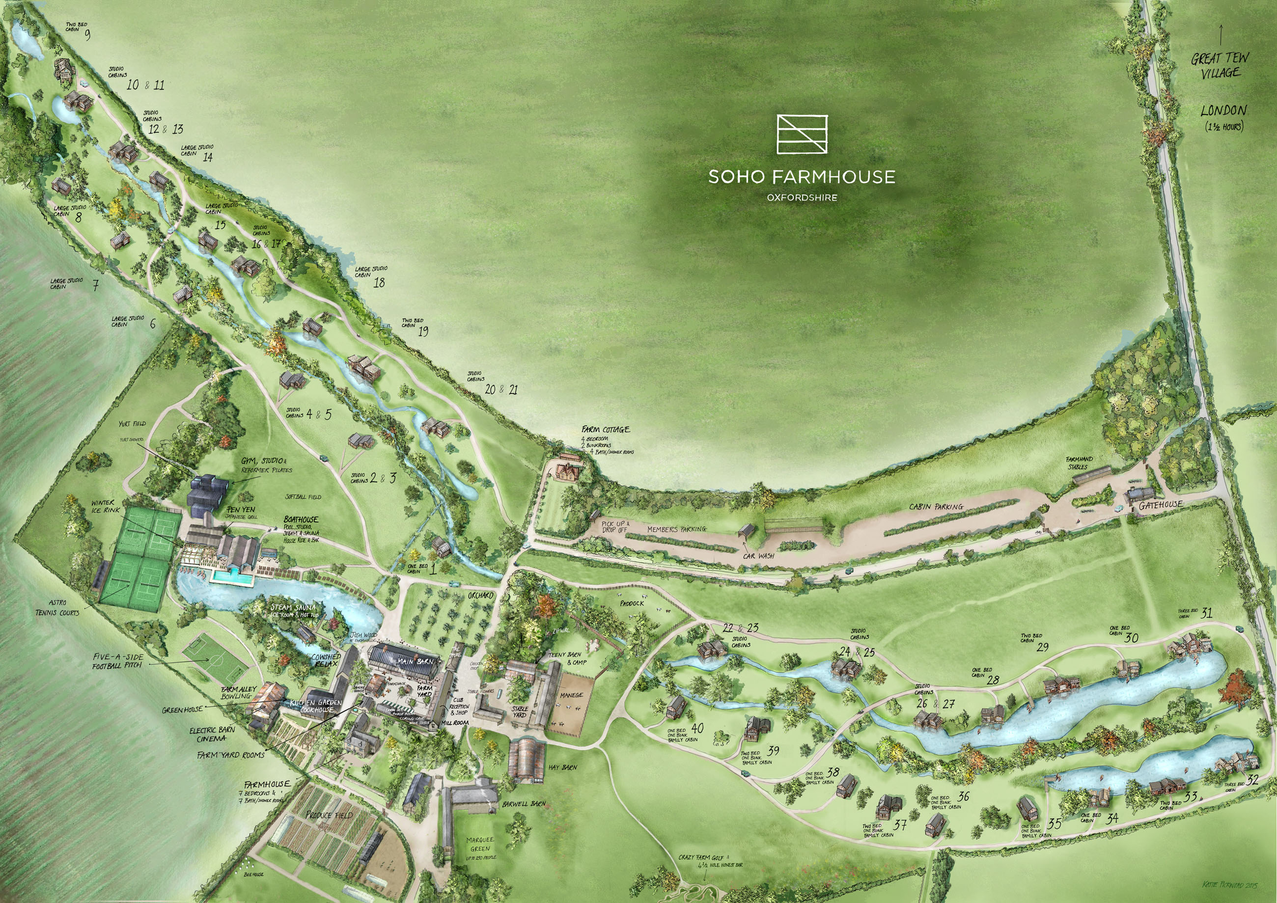 Soho Farmhouse Map