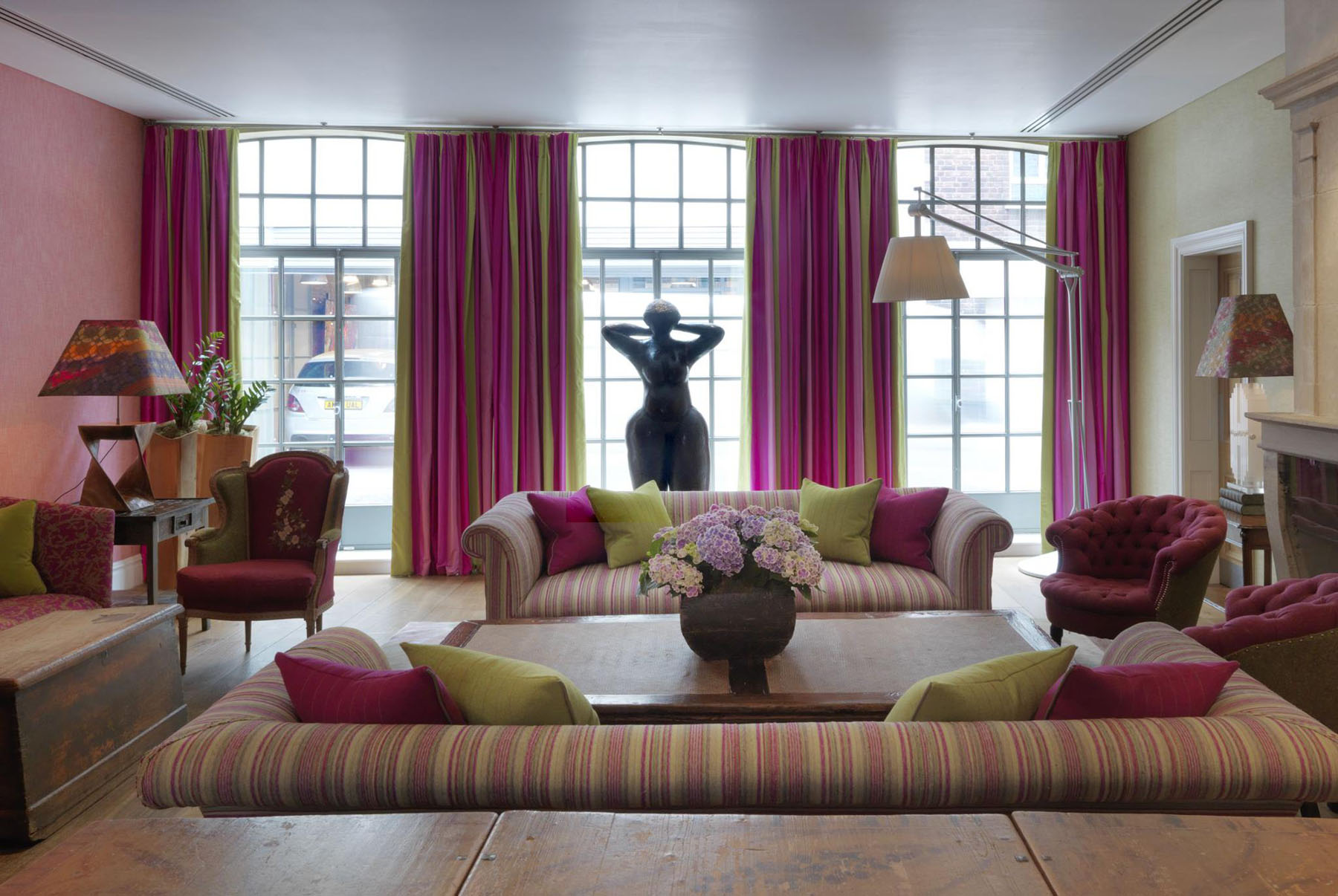 trendy soho hotel london interiors | idesignarch | interior design