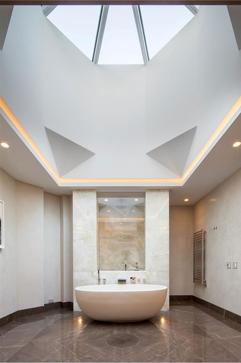 Luxury Bathroom with Skylight