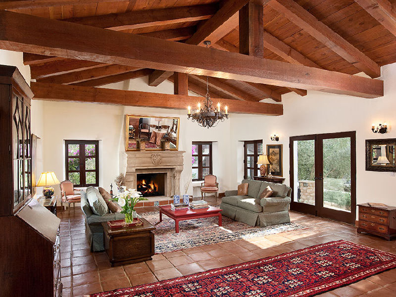 Beautiful spanish hacienda in santa barbara - Spanish home interior design ideas ...