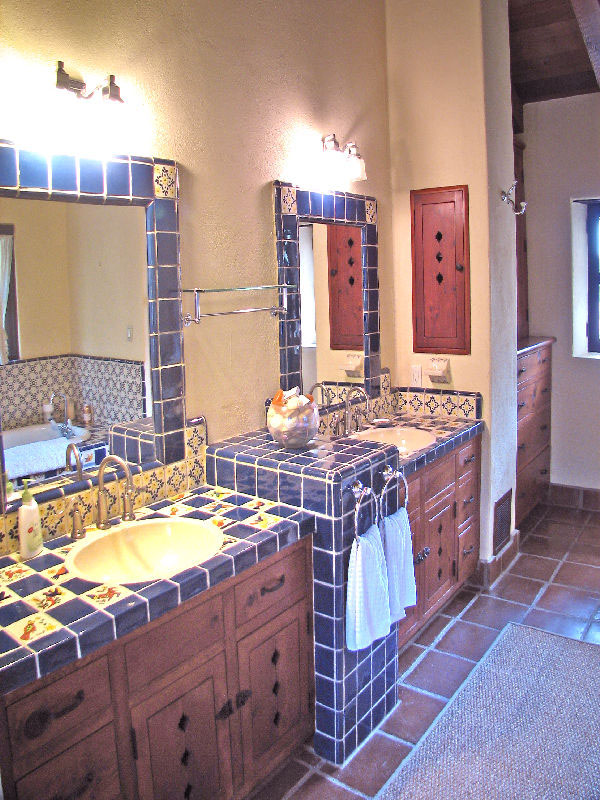 Beautiful spanish hacienda in santa barbara idesignarch for Spanish style bathroom