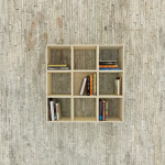 Movable Squaring Bookshelf