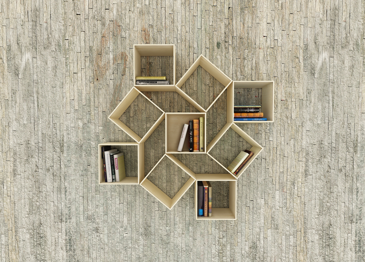movable squaring bookshelf idesignarch interior design