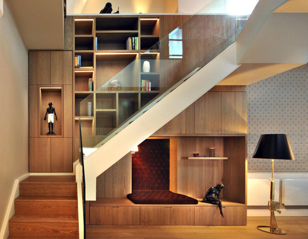 Contemporary London Penthouse Apartment. Contemporary Elegant Apartment  Interior. Timeless Apartment Interior Design. Penthouse With Wood Beams