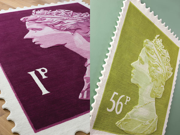 Queen Elizabeth Ii Royal Mail Stamp Rugs Idesignarch