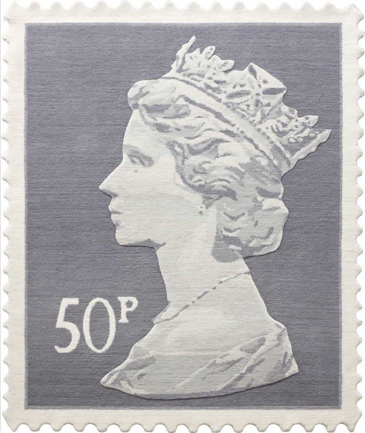 Queen Elizabeth II Royal Mail Stamp Rugs