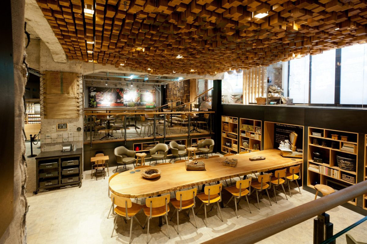 The bank a starbucks coffee theatre in amsterdam idesignarch interior design architecture - Coffee shop interior design ideas ...