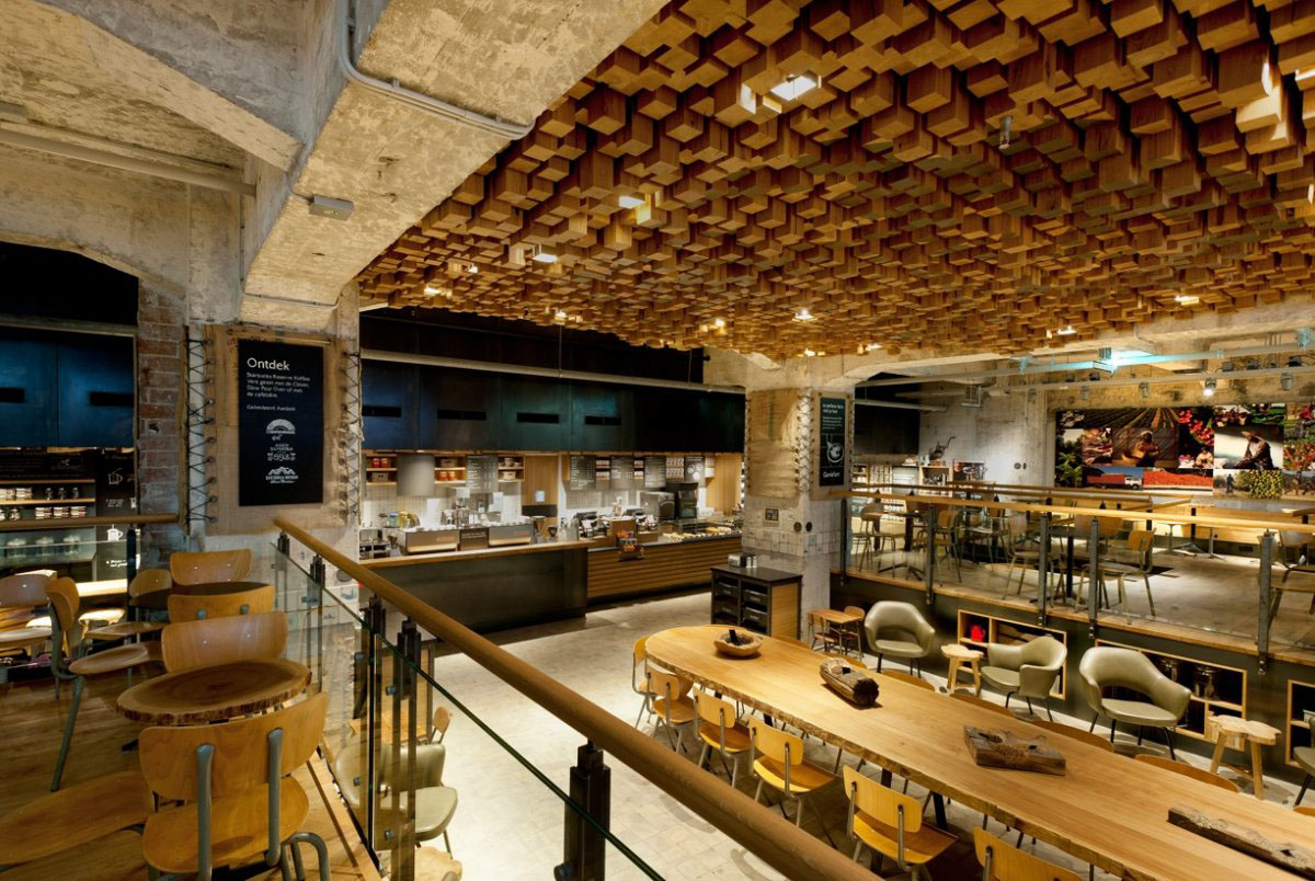 The Bank - A Starbucks Coffee Theatre In Amsterdam : iDesignArch : Interior Design, Architecture ...