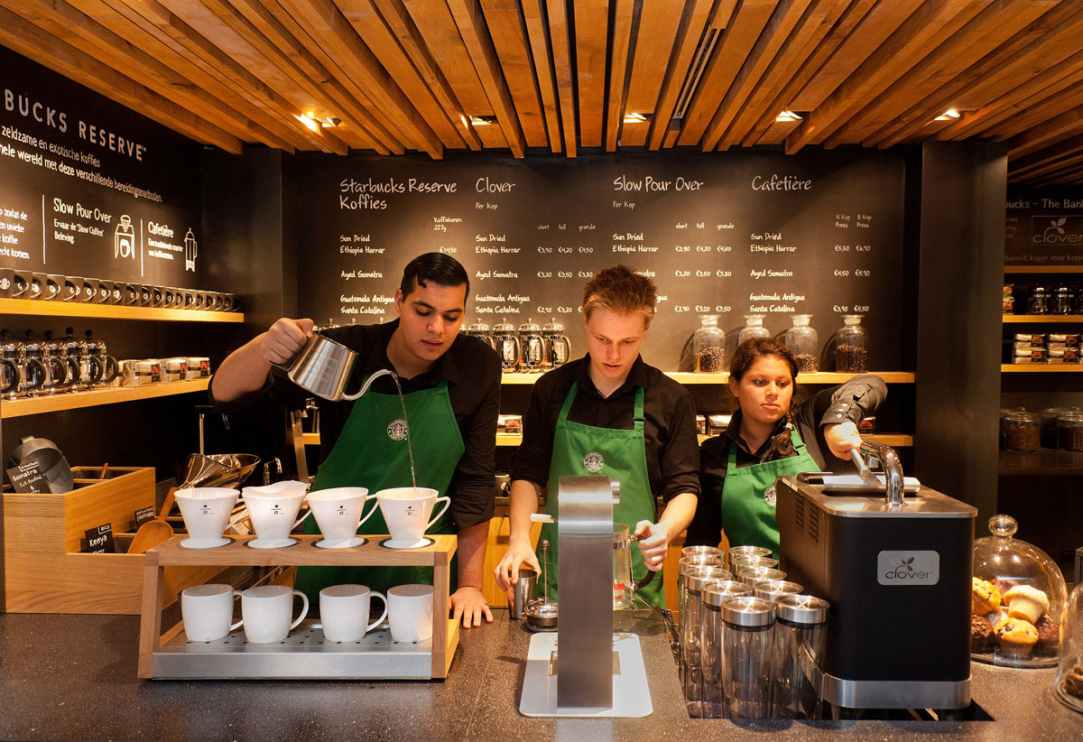The Bank A Starbucks Coffee Theatre In Amsterdam IDesignArch Interior Design Architecture