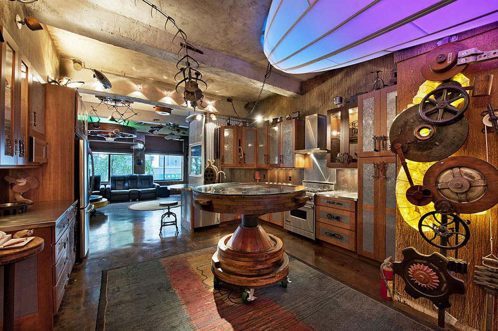 Retro futuristic steampunk loft apartment in new york for Apartment design retro