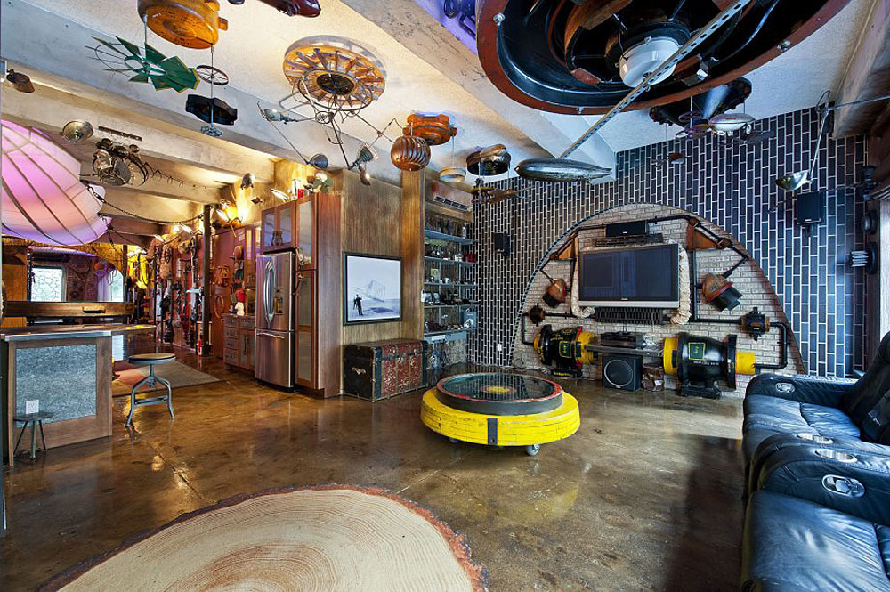 Retro futuristic steampunk loft apartment in new york idesignarch interior design