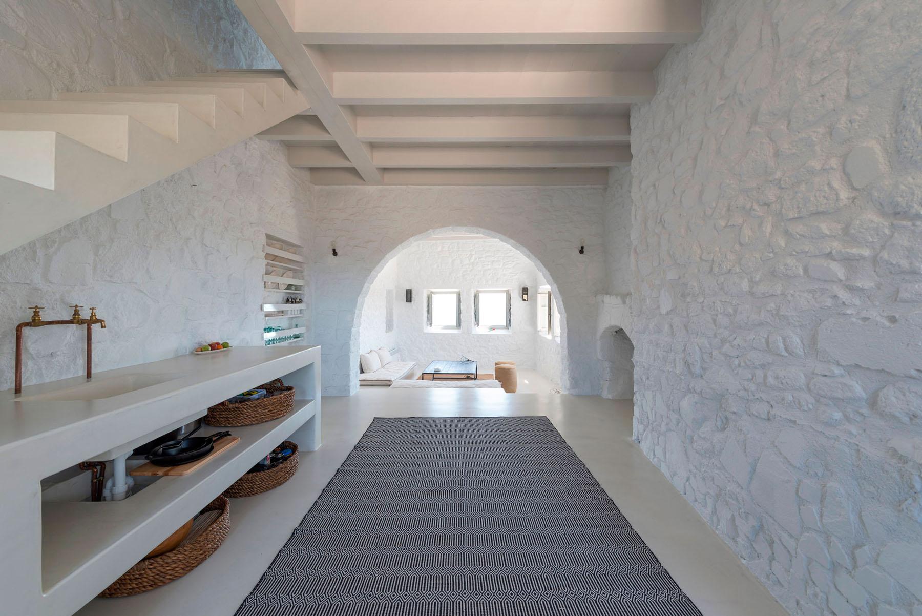 Restored 17th Century Stone House In Greece With Modern Aesthetics Idesignarch Interior