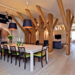 Unique Attic Penthouse Apartment With Charming Wood Beams