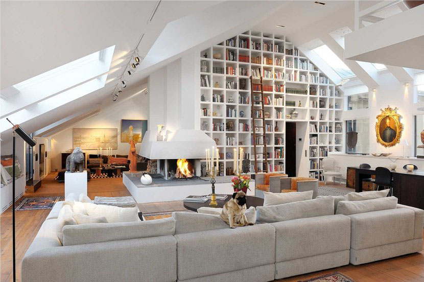 beautiful loft in stockholm with high ceilings
