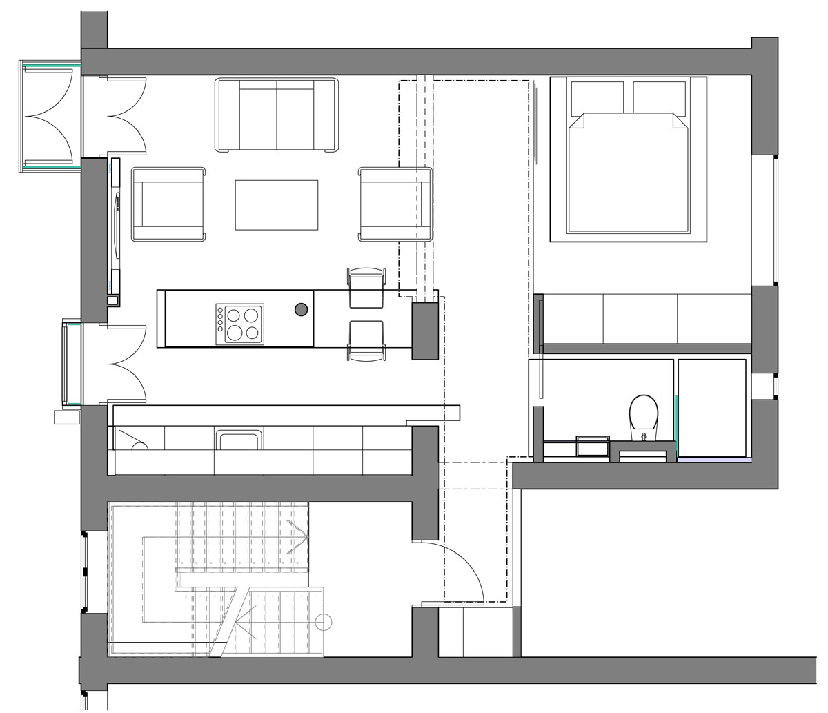 560 square foot studio apartment in iceland idesignarch for Studio apartments plans