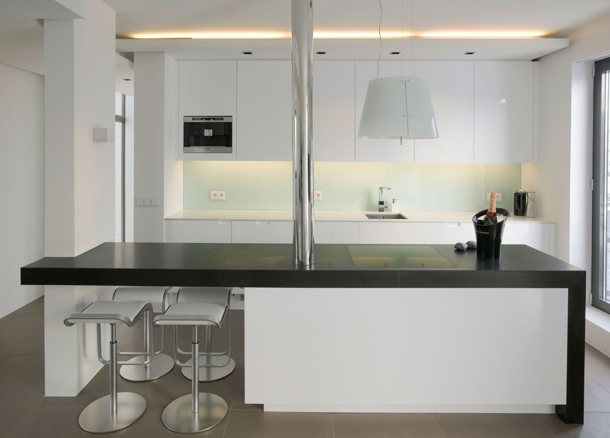 Modern Studio Apartment Kitchen