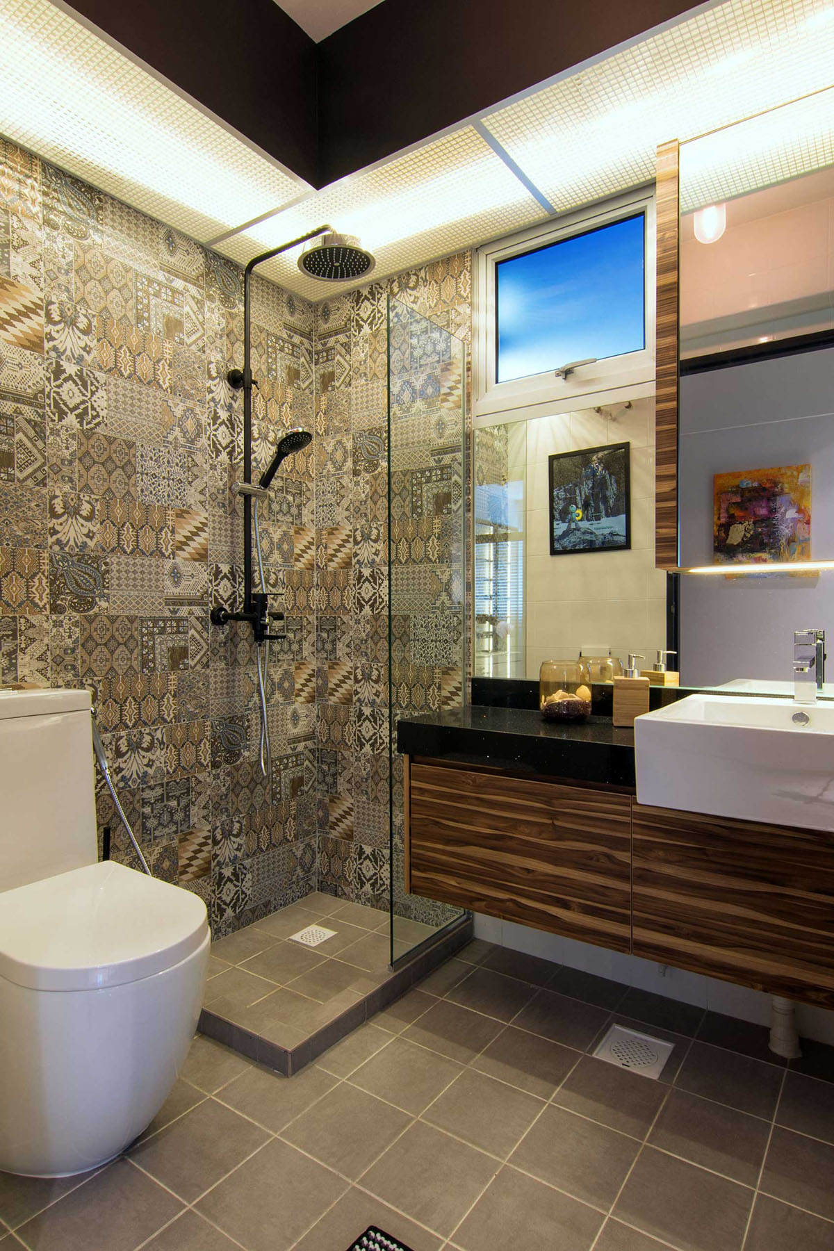 Bathroom Tiles Singapore cozy apartment in singapore with stylish elements | idesignarch