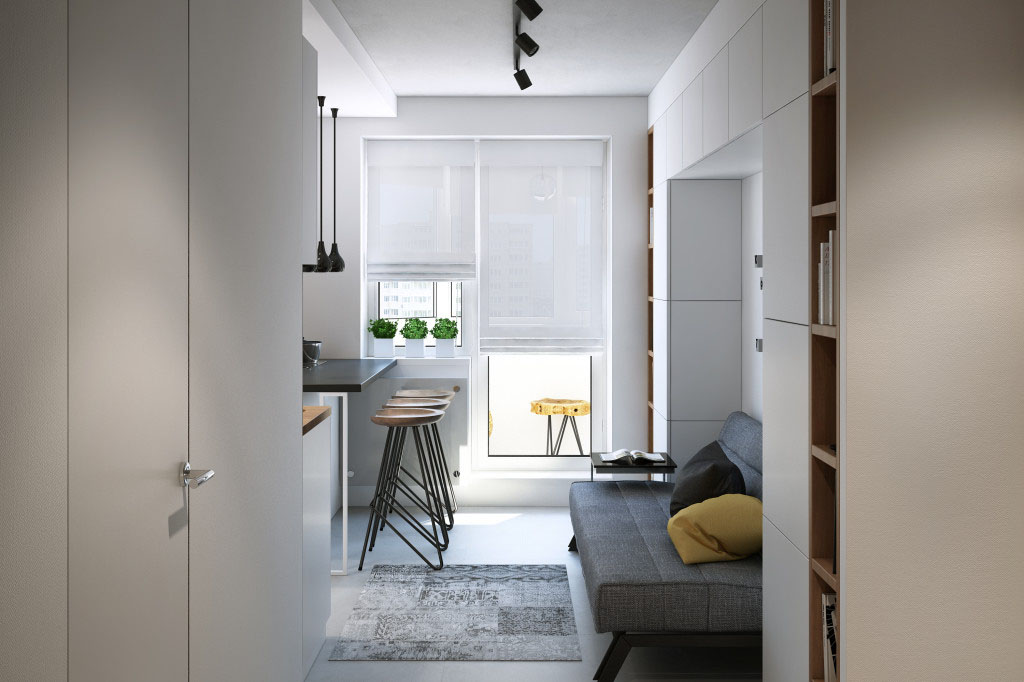 Stylish Small One Bedroom Apartment Moscow Russia 5. Stylish Small One Bedroom Apartment Moscow Russia 5   iDesignArch