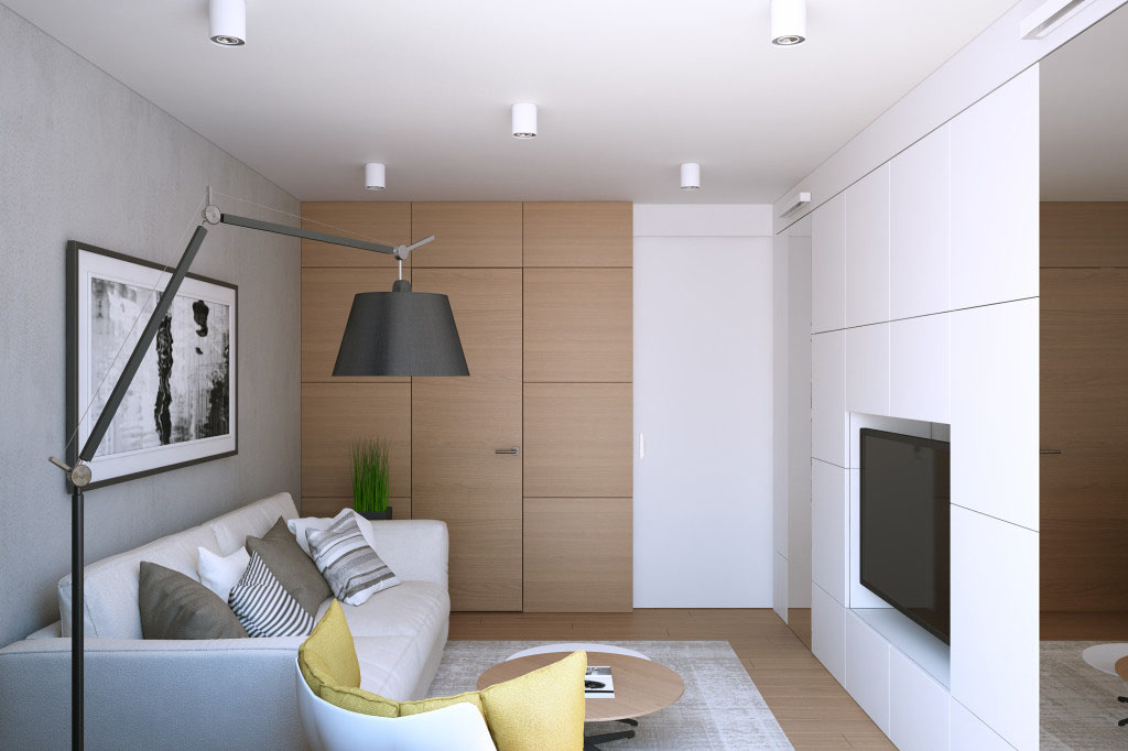 small one bedroom apartment. Stylish Small One Bedroom Apartment Moscow Russia 9  iDesignArch