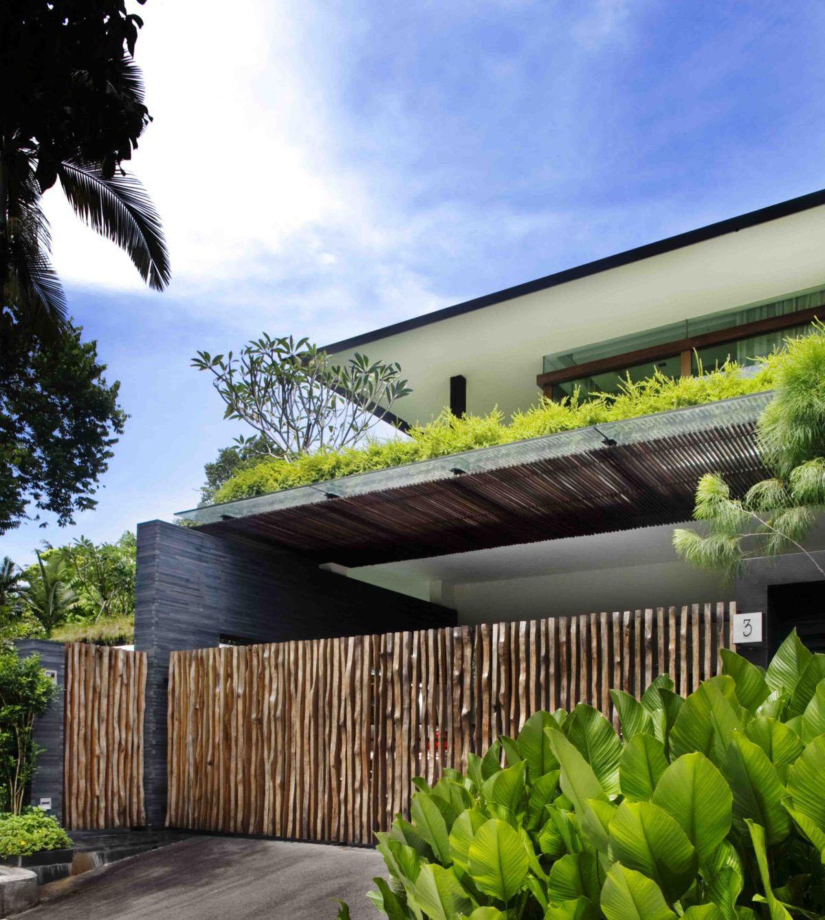 Zen Home Design Singapore: Private Lush Paradise By Guz Architects