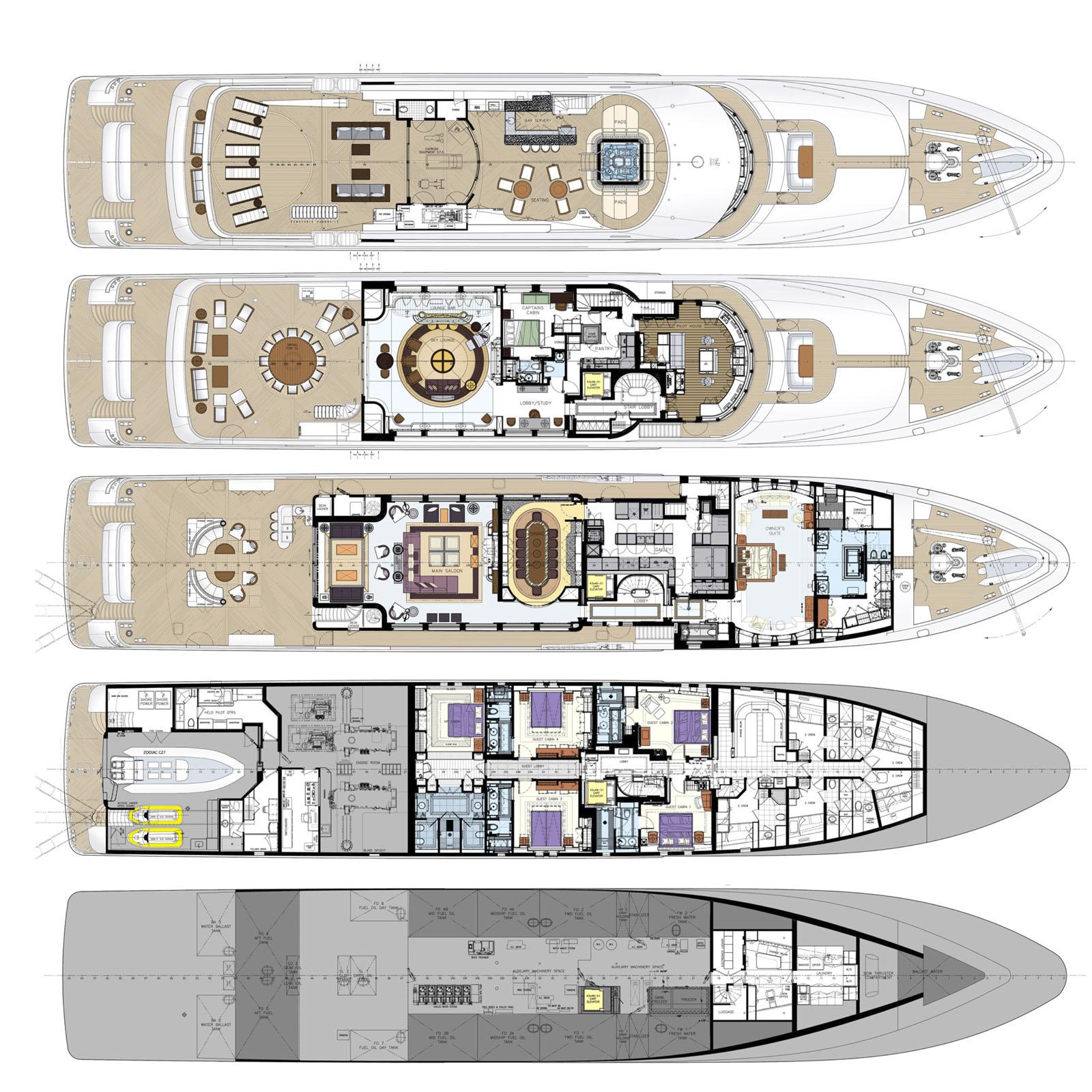 The Simple Elegance Of Superyacht Quot Bacarella Quot Idesignarch Interior Design Architecture
