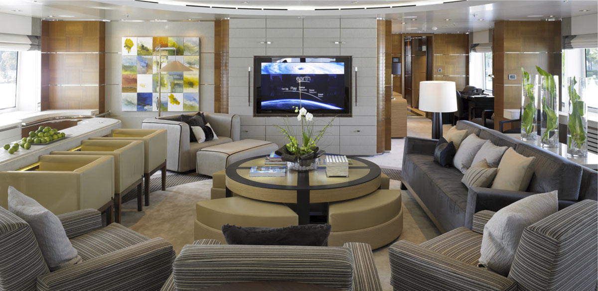 Luxury yacht bacarella
