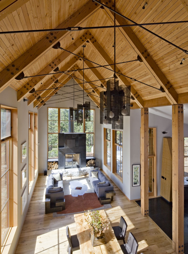 Modern Alpine Home with Timber Framed Roof