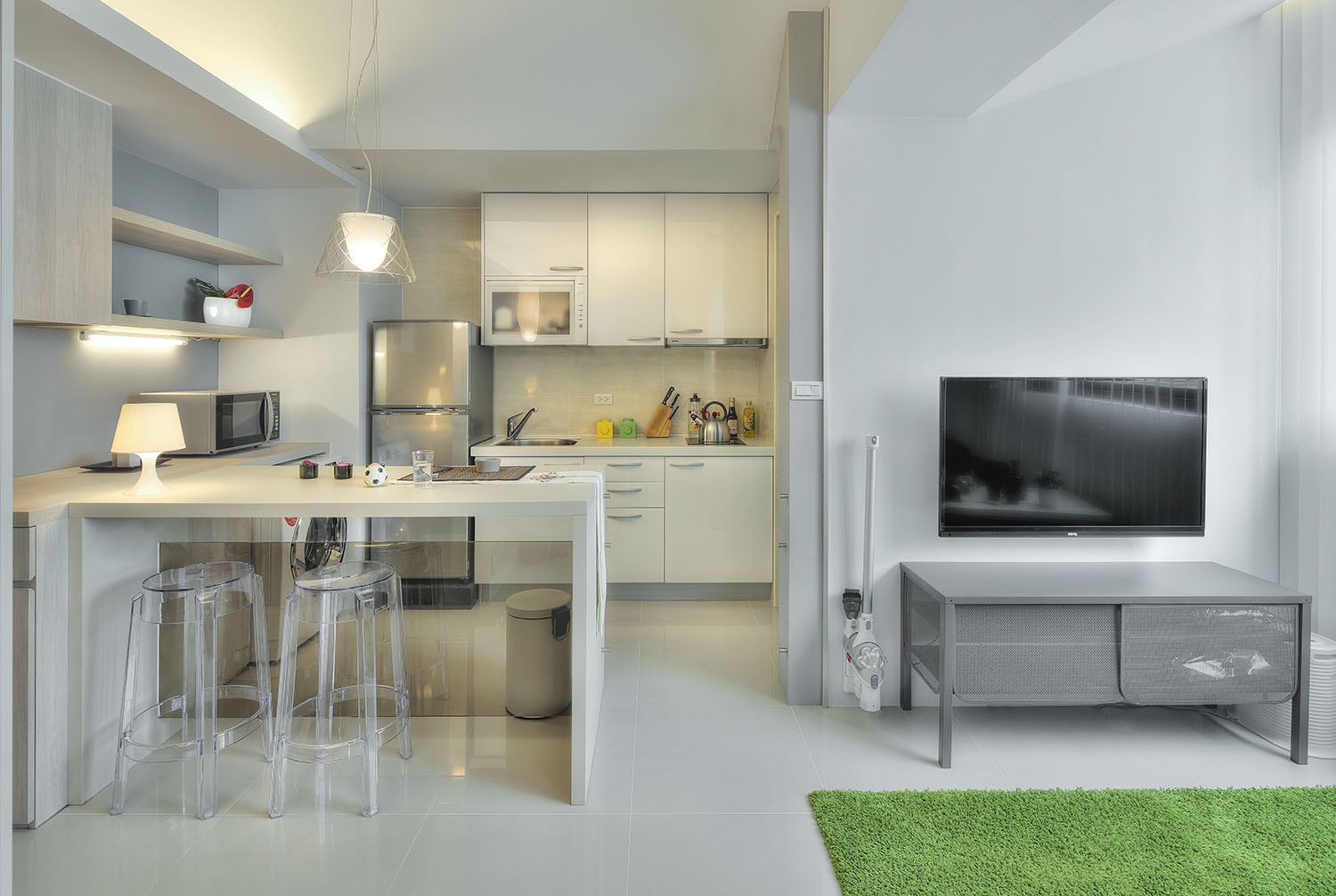 Apt Kitchen Small Taipei Studio Apartment With Clever Efficient Design