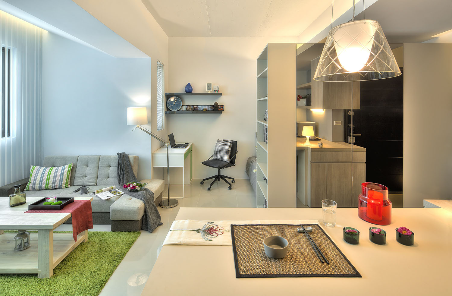 Small Taipei Studio Apartment With Clever Efficient Design - Clever storage in paris flat