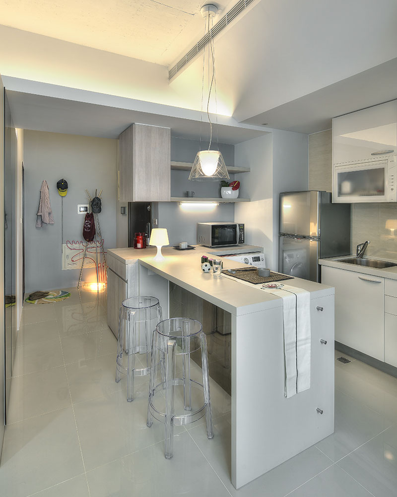 Small taipei studio apartment with clever efficient design idesignarch interior design Kitchen interior design for small apartments