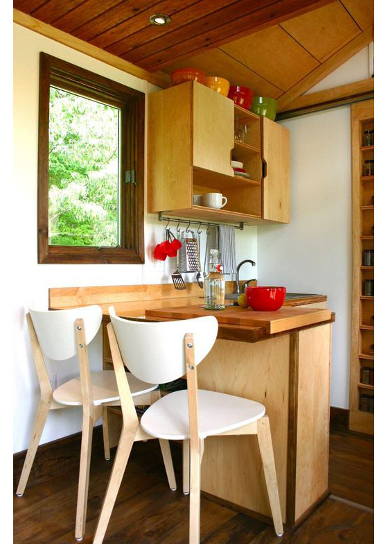 Tiny Home Interior Design: Rustic Modern Tiny House For Tall People
