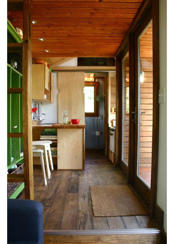 Rustic modern tiny house for tall people idesignarch interior design architecture - Tiny contemporary house interior ...