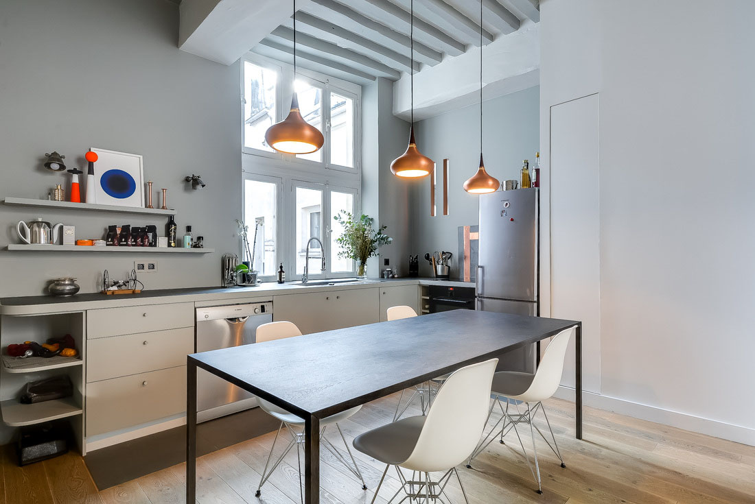 fresh and modern small apartment in the heart of marais in paris