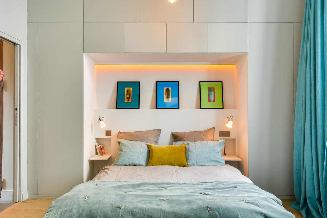 Paris Apartment Contemporary Bedroom Design