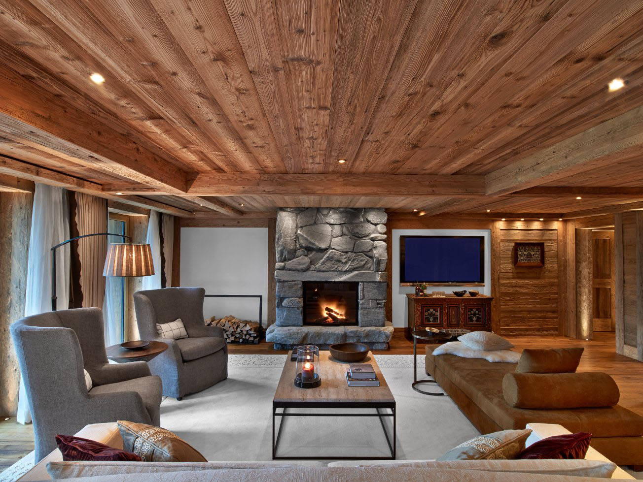 Swiss alpine luxury at the alpina gstaad hotel for Alpine home designs