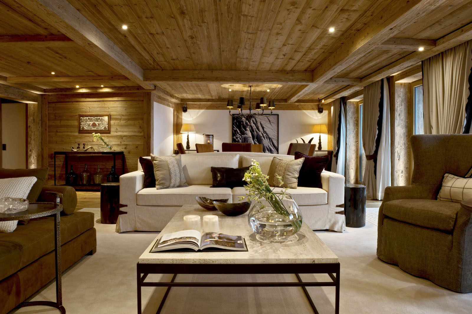 Rustic Alpine Style Wood Ceilings