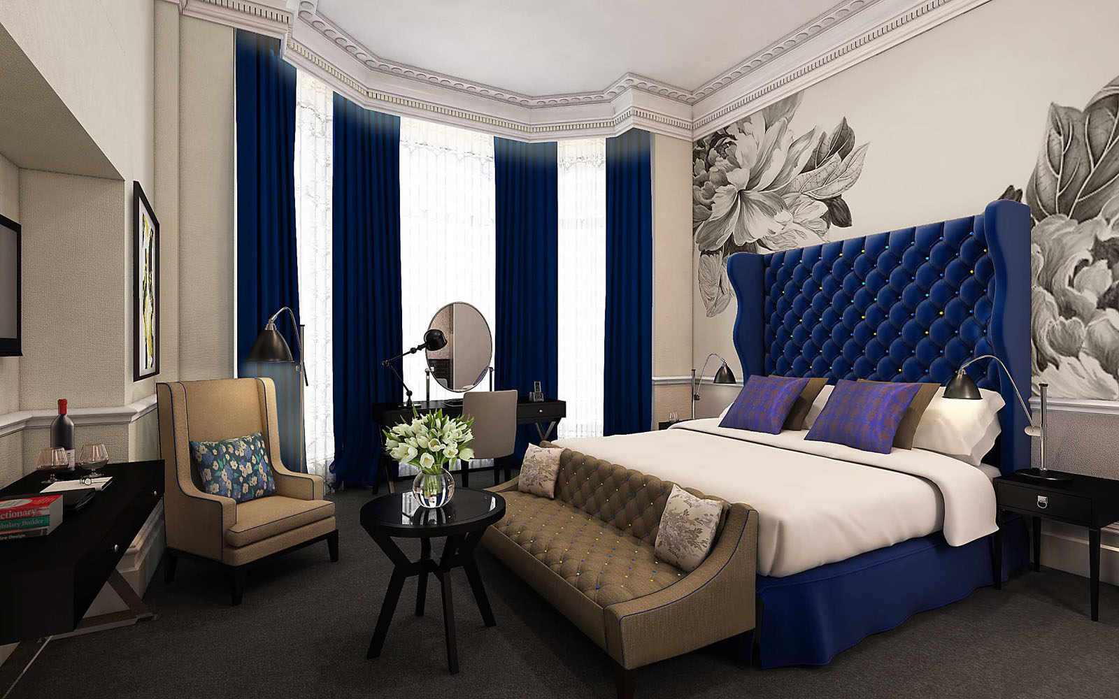 The ampersand hotel london victorian architecture with for Modern hotel decor
